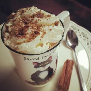 The homemade Hot Chocolate