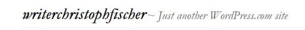 Writer Christoph Fischer 300615