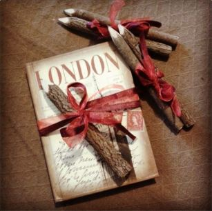 'London' A5 Notebook and Twig Pencils