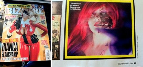 Bizarre Magazine Model Abi Rose Photographer Ginger Snap Dragon Photography
