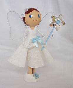 BlueBell - Clothespin Doll - Troodlecraft