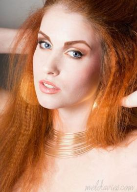 Golden Mane Model Lizzy T Photographer Mel Davies