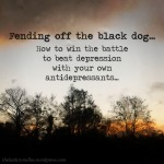 black dog, depression, ways to beat depression, antidepressants, thelastkrystallos,