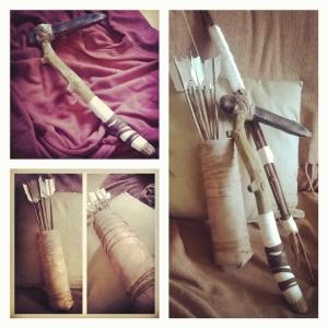 Lara Croft, weapons, axe, arrows, bow, quiver, thelastkrystallos,