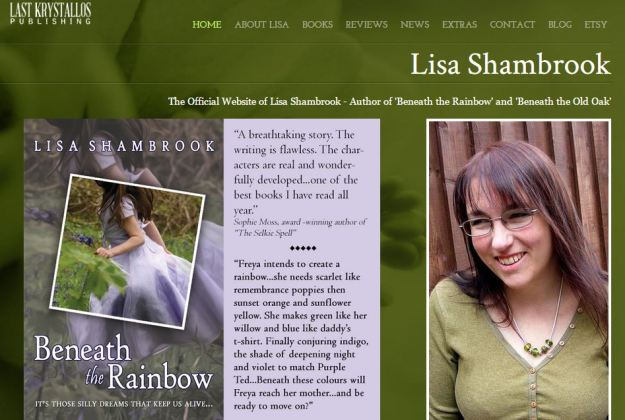 My website - note consistent photo, colours and imagery © Lisa Shambrook