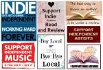 support indie, buy local, buy indie, support indie authors, buy indie music,