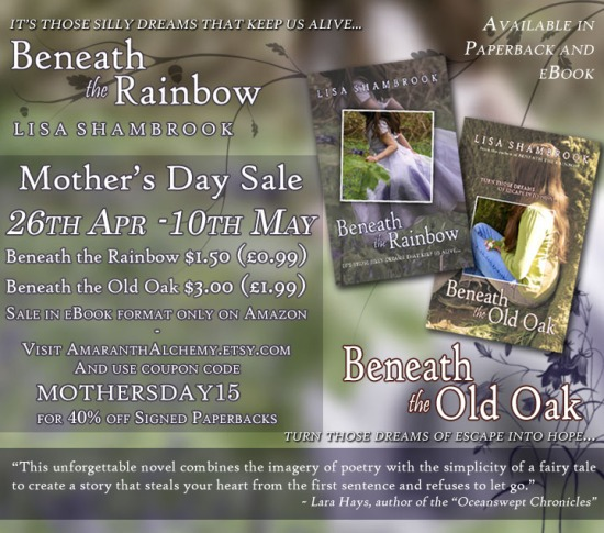 Beneath the Rainbow, Beneath the Old Oak, Lisa Shambrook, books, mother daughter relationship, grief, enchanting, sale,