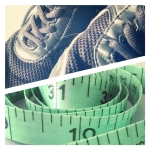 trainers, weight loss, tape measure,