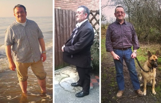 Vince's weightloss, before, during and after.... © Lisa Shambrook