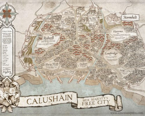 Map of Calushain - Orison