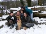 family snow,