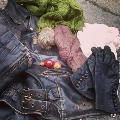 Slipping on the leather jacket... gloves, hats and scarves... © Lisa Shambrook