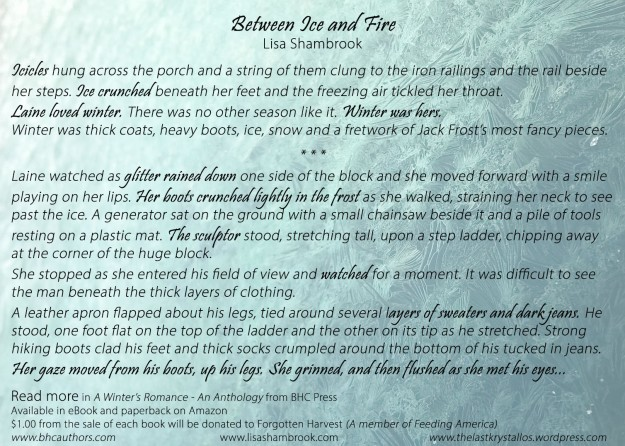 Between Ice and Fire - A Winter's Romance Anthology Snippet - Lisa Shambrook - BHC Press