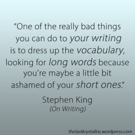 Stephen King On Writing Quote simplify - The Last Krystallos