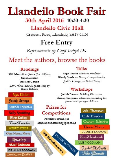 llandeilo book fair 2016 poster,