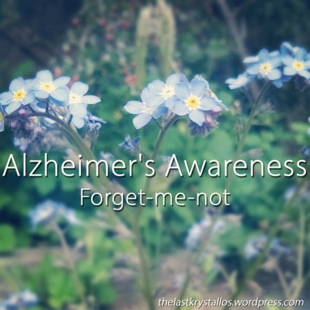 Alzheimer's Awareness - Forget-me-not - The Last Krystallos