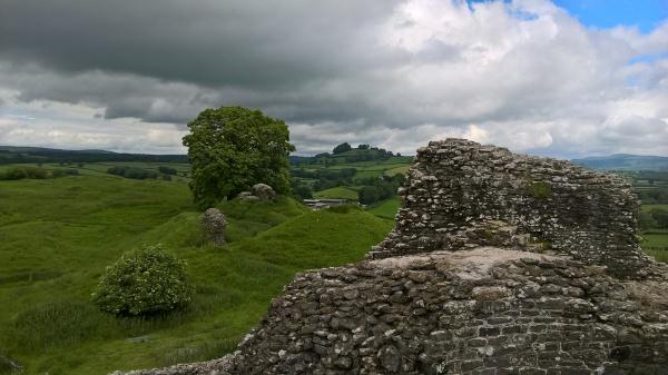 Dryslwyn Castle, hills, Lisa Shambrook,