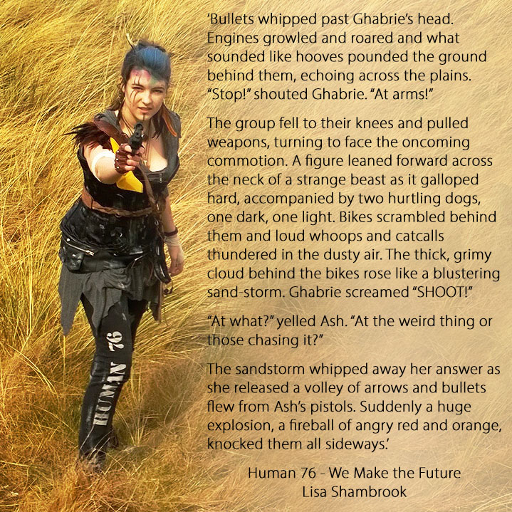 Snippet of 'We Make the Future' by Lisa Shambrook - Human 76