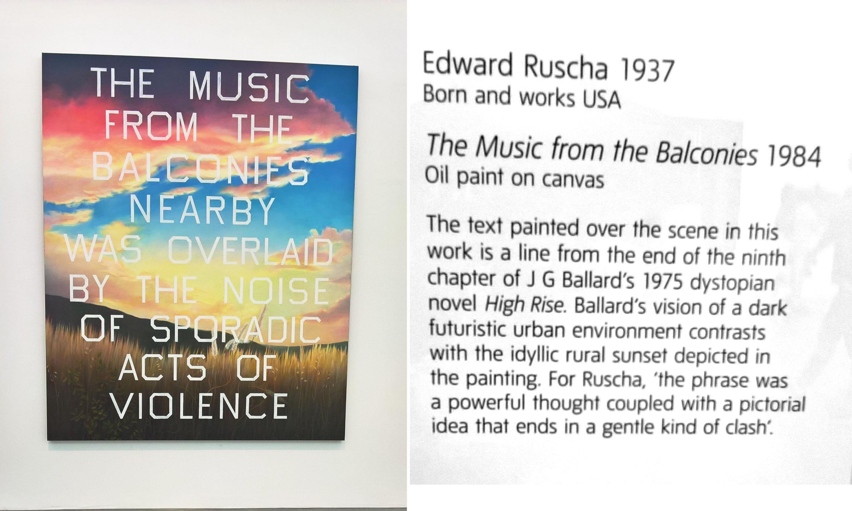 Edward Ruscha - Music from the Balconies