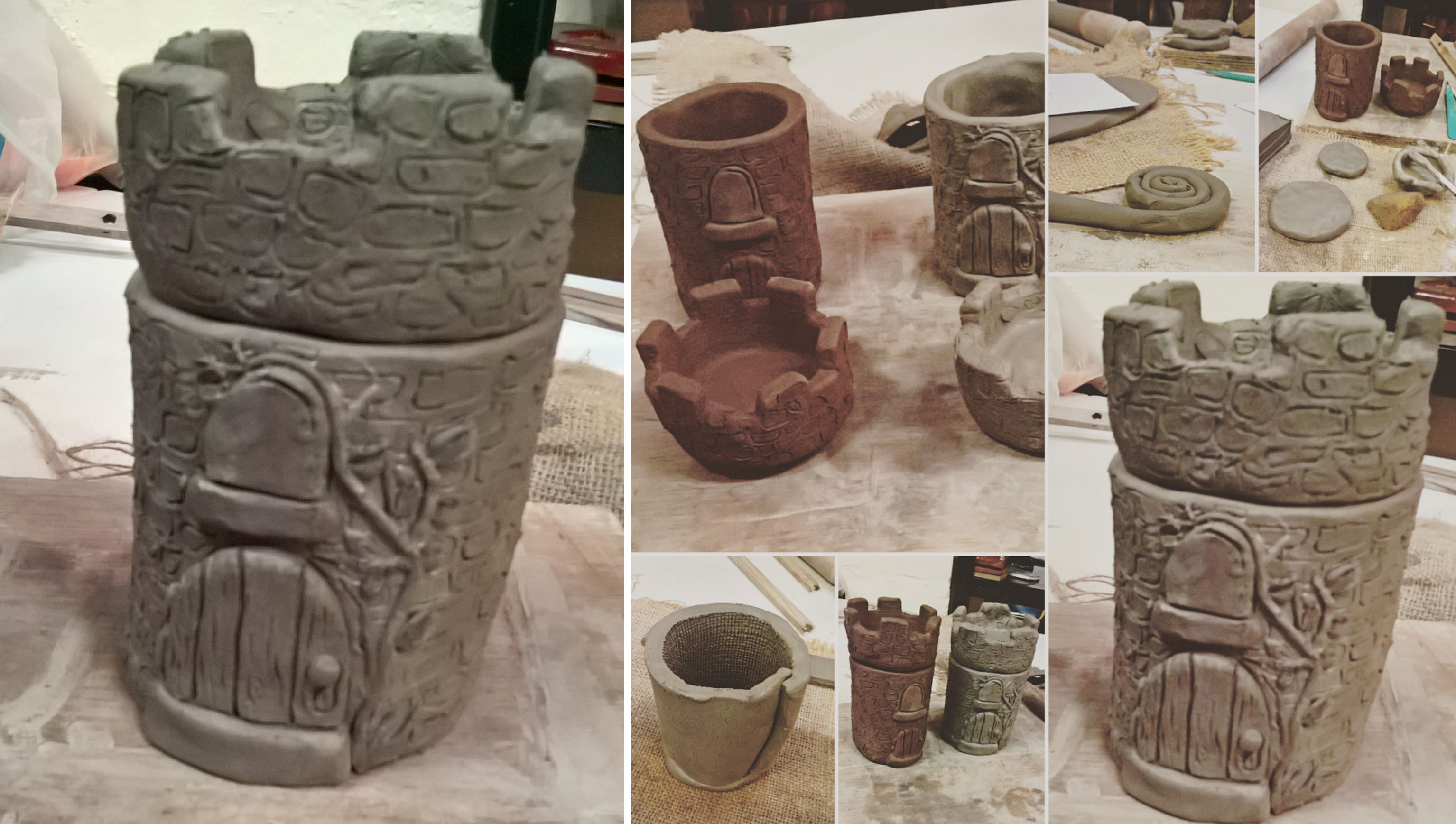 castle-turret-slab-and-coil-work-lisa-shambrook-greenspace-carers-class-2016