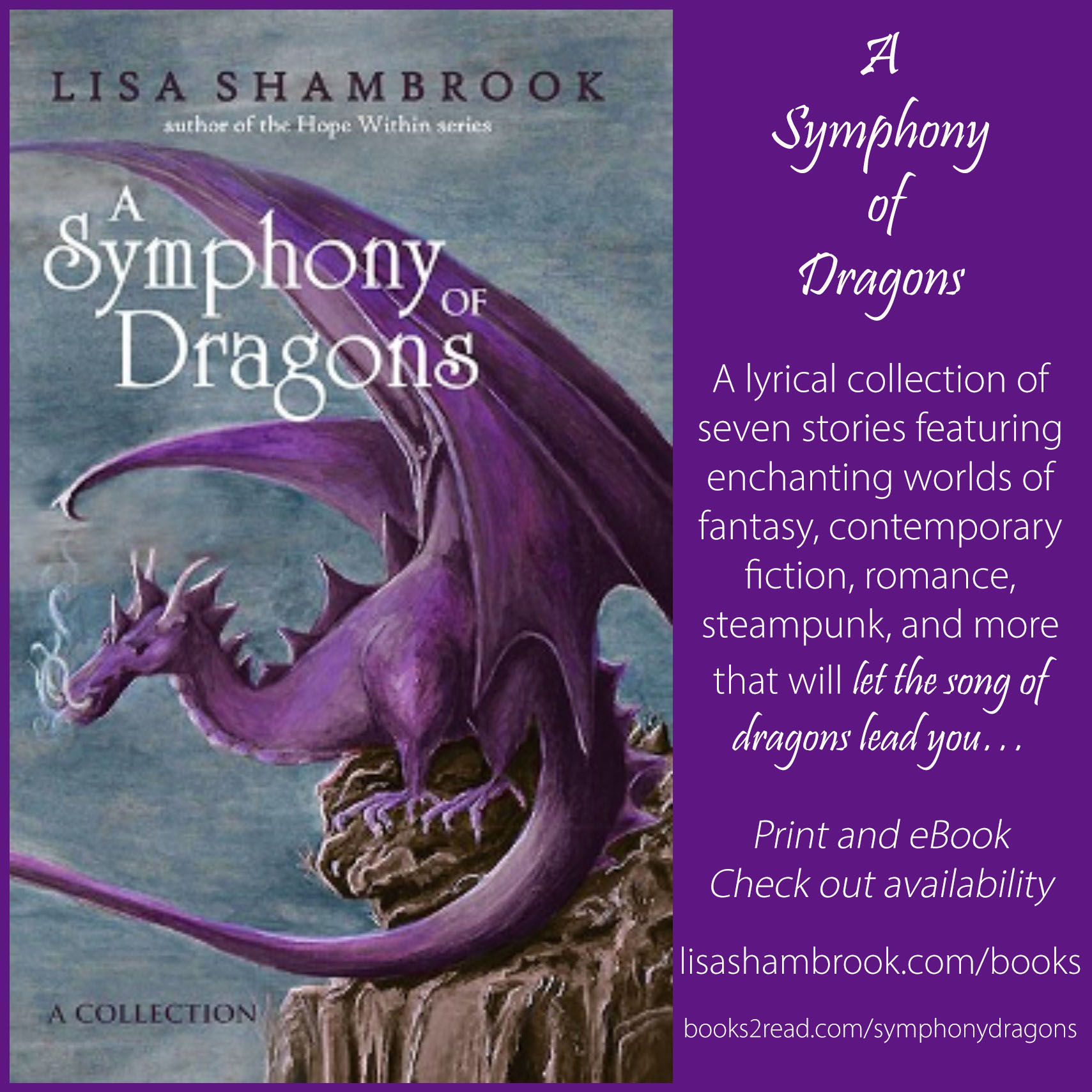 A Symphony of Dragons - Lisa Shambrook - Purple Ad lower