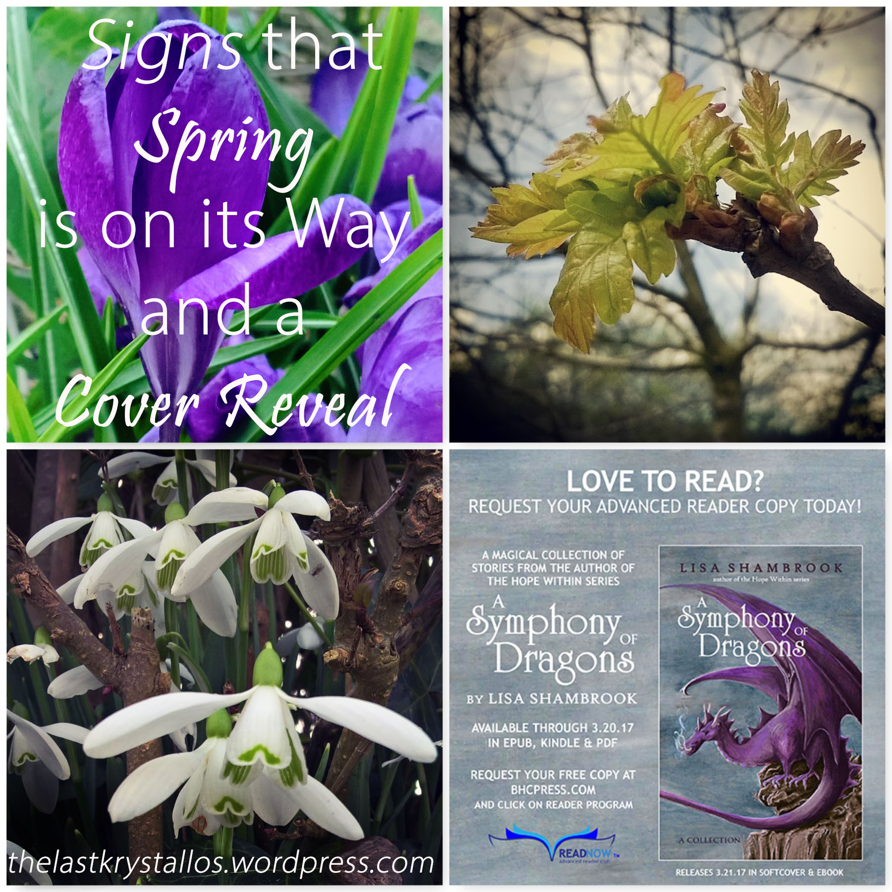 Signs that Spring is on its Way and a Cover Reveal | The Last Krystallos