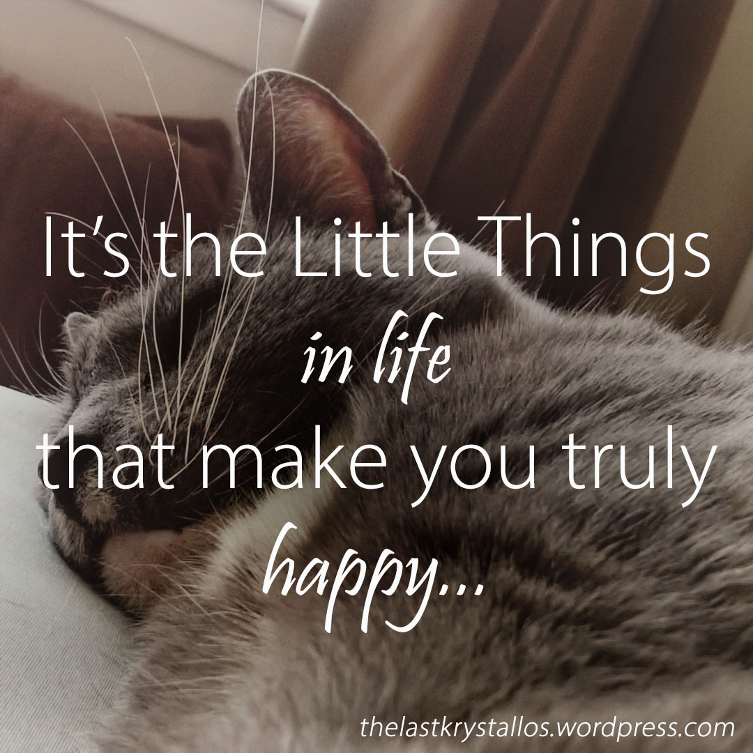 It's the Little Things in life - that make you truly happy - The Last Krystallos