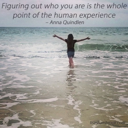Figuring out who you are is the whole point of the human experience-Anna Quindlen-Lisa Shambrook