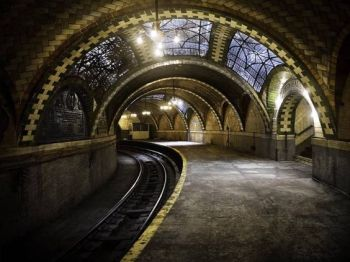 abandoned subway station - City Hall Station, in New York