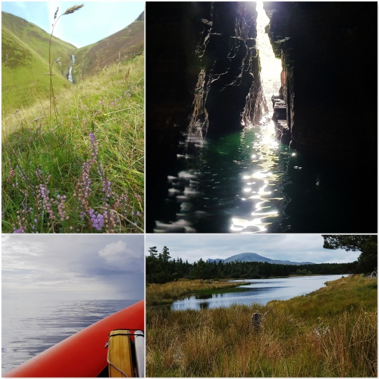 Grey Mares Tail Waterfall - Ocean Cave near Wick - Wick Ocean - Loch and Forest near Altnaharra © Lisa Shambrook