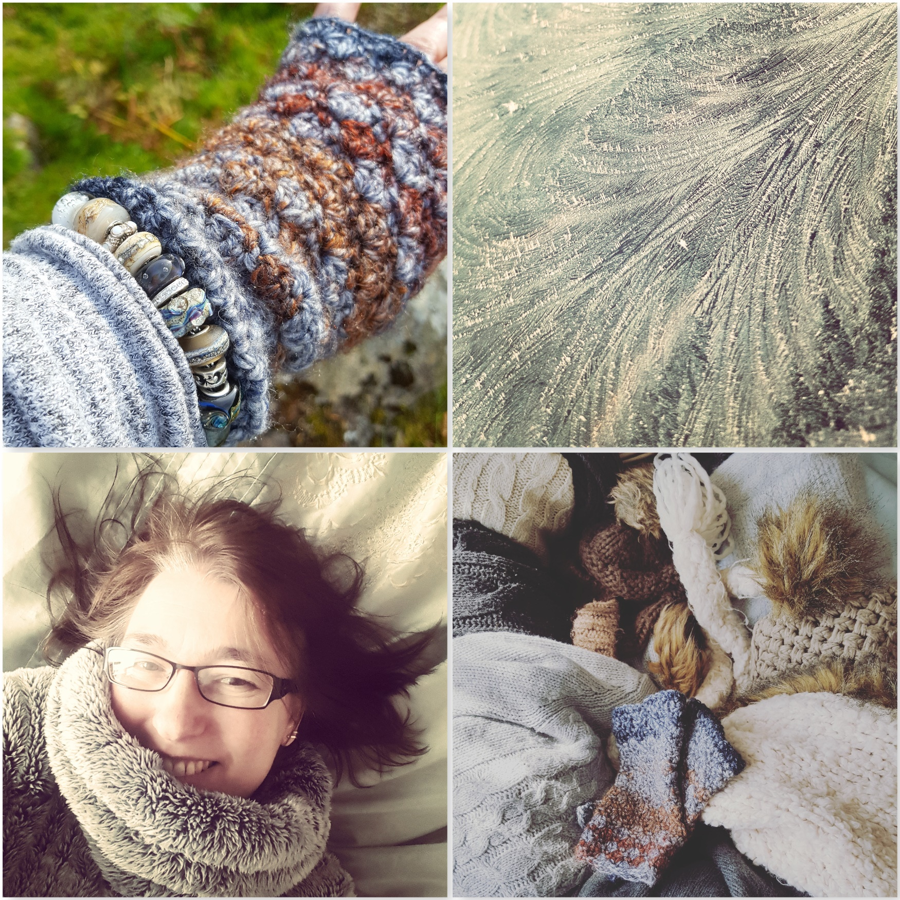 Natural Gloves - Frost - Furry Top - Gloves Woollies