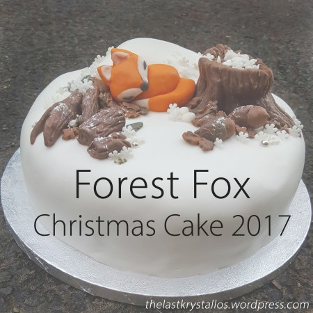 Forest Fox Christmas Cake 2017 - The Last Krystallos - Lisa Shambrook - title