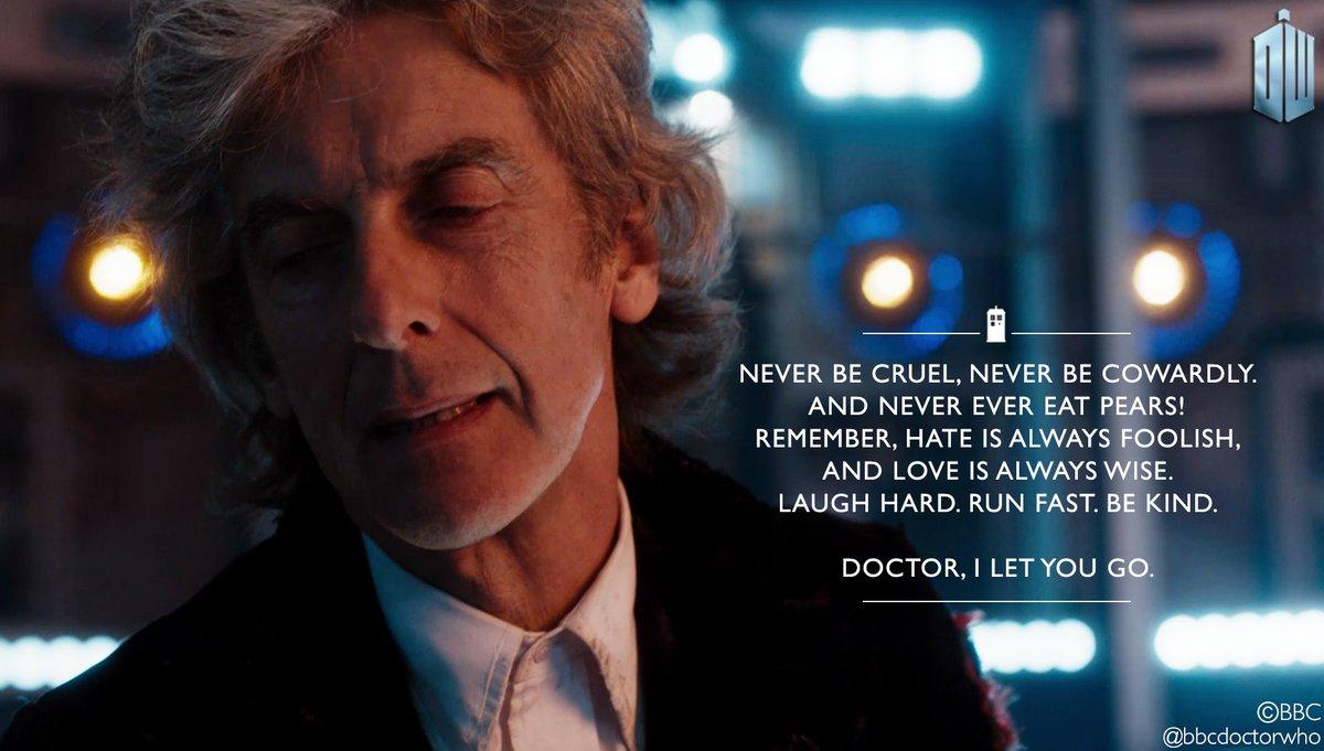 Twelfth Doctor Final Words Doctor Who Peter Capaldi @DoctorWhoOfficial