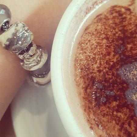 Trollbeads bracelet and Hot Choc from Pethau Da coffee shop Carmarthen - The Last Krystallos blog