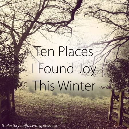 Ten Places I Found Joy This Winter - The Last Krystallos