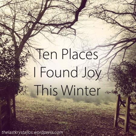 Ten Places I Found Joy This Winter - The Last Krystallos