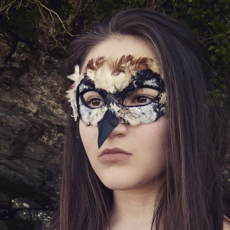 Cait's Blodeuwedd Owl mask - The Last Krystallos