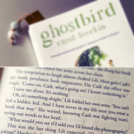 Ghostbird Carol Lovekin - trying out words - The Last Krystallos