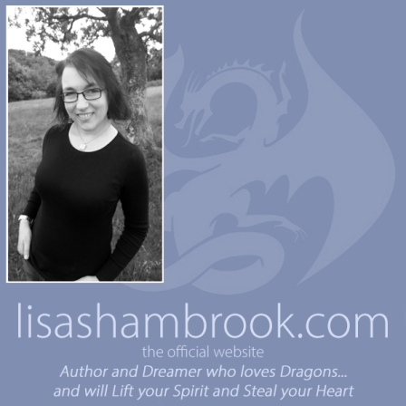 Lisa Shambrook website Dragon Logo with author photo