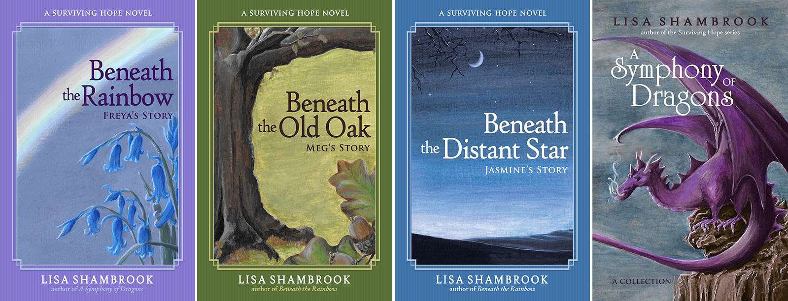 Surviving Hope novels and A Symphony of Dragons by Lisa Shambrook