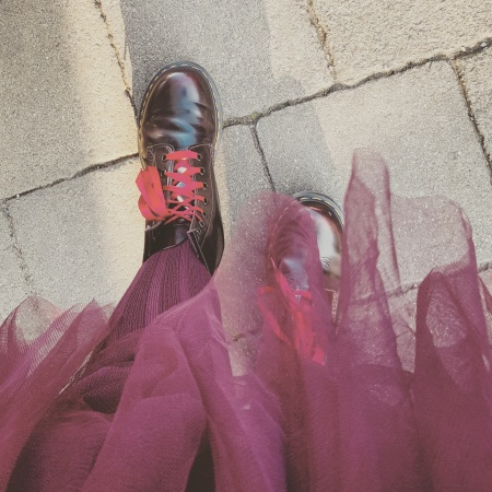 Arcadia 1460 Cherry Red Docs and Burgundy tulle Feb 2018