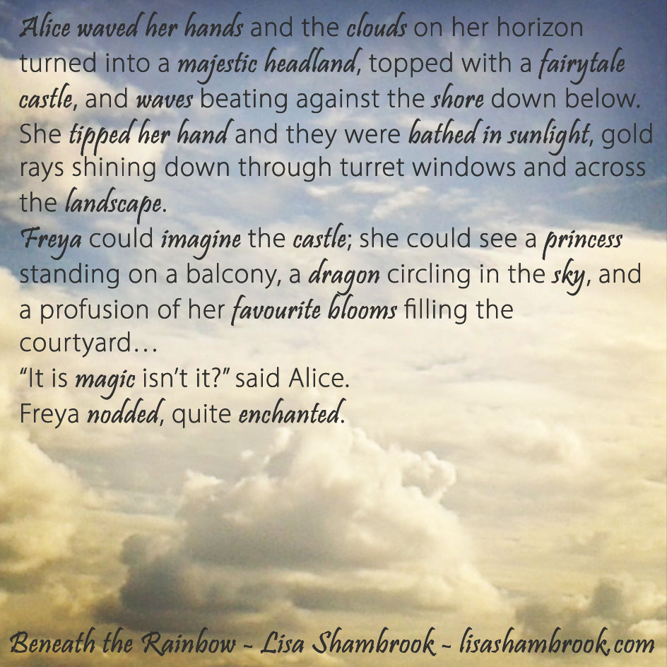 Castle on a Cloud...Excerpt from Beneath the Rainbow by Lisa Shambrook