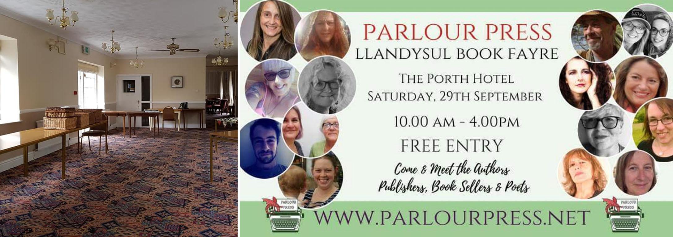 Parlour Press Book Fayre - 29th Sept - Porth Hotel, Llandysul
