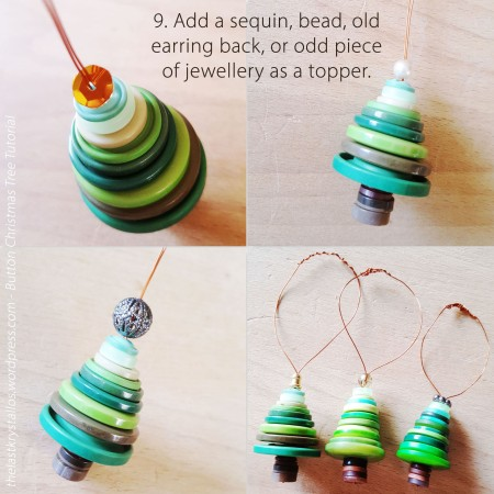 9. Add a sequin, bead, old earring back, or odd piece of jewellery as a topper.