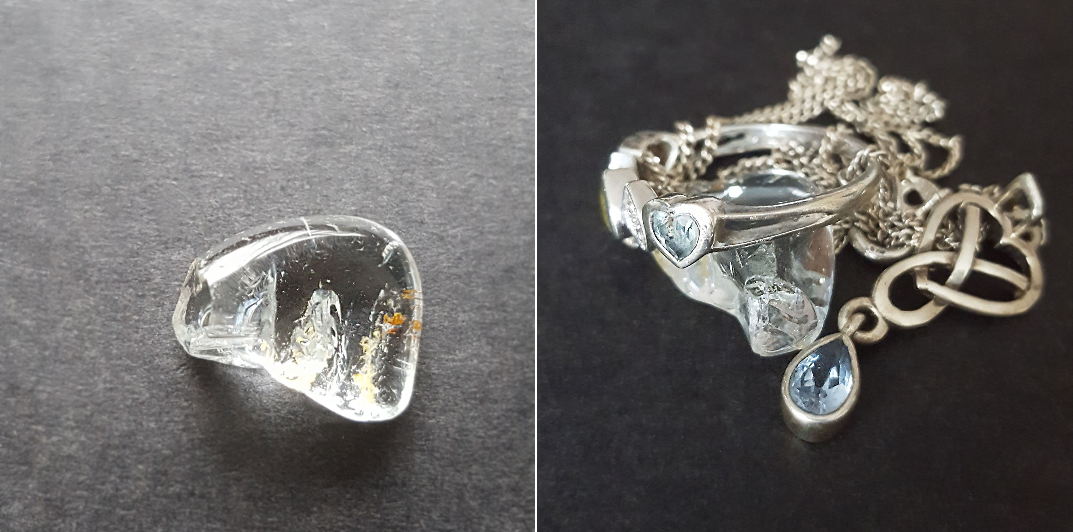 November - Topaz - Silver Topaz and Blue Topaz
