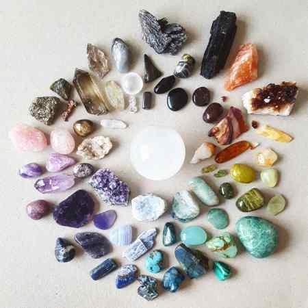 Crystal Colour Wheel - Fluorite centre - The Last Krystallos