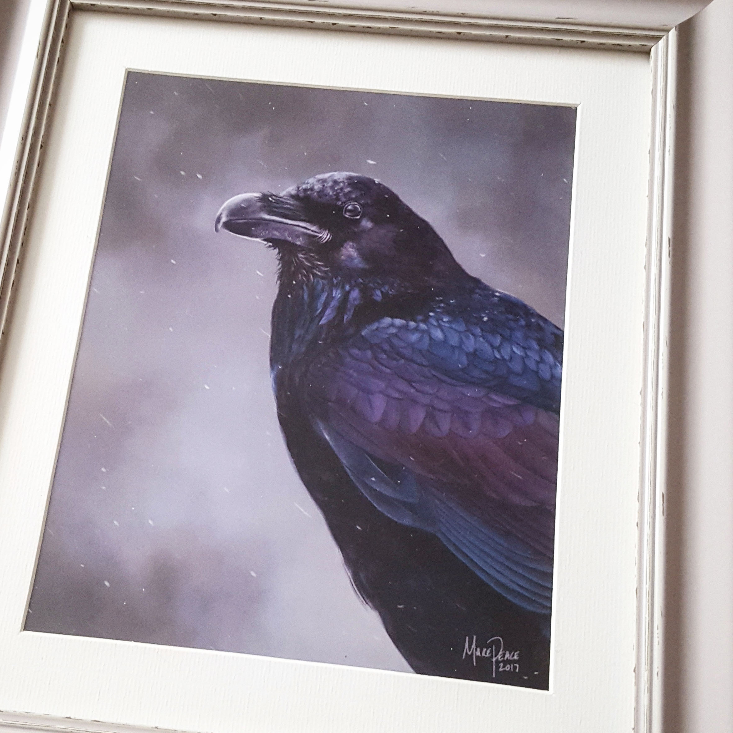 Print of Winter's Raven painting by Amanda Makepeace