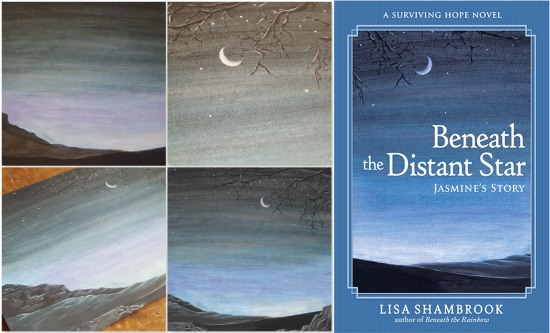 Beneath the Distant Star Painting Covers - Lisa Shambrook - The Last Krystallos