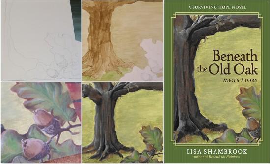 Beneath the Old Oak Painting Covers - Lisa Shambrook - The Last Krystallos