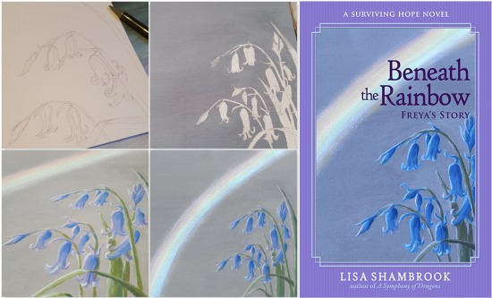 Beneath the Rainbow Painting Covers - Lisa Shambrook - The Last Krystallos